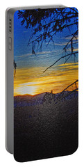 Portable Battery Charger featuring the photograph Sunset Mountain To Mountain by Janie Johnson