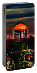 Sunset On A Charlotte Water Tower By Diana Sainz Portable Battery Charger