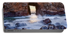 Sunset On Arch Rock In Pfeiffer Beach Big Sur California. Portable Battery Charger
