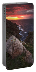 Sunset On Cape Prior Galicia Spain Portable Battery Charger