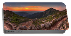 Sunset On Franconia Ridge Portable Battery Charger