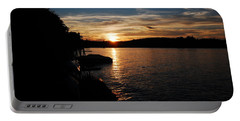 Portable Battery Charger featuring the photograph Sunset On Halfmoon by Mim White