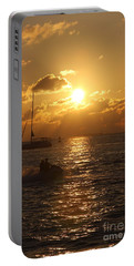 Sunset Over Key West Portable Battery Charger by Christiane Schulze Art And Photography