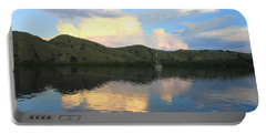 Portable Battery Charger featuring the photograph Sunset On Komodo by Sergey Lukashin
