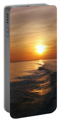 Portable Battery Charger featuring the photograph Sunset On Long Island Sound by Karen Silvestri