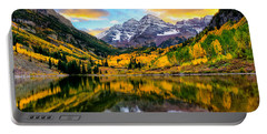 Sunset On Maroon Bells Portable Battery Charger