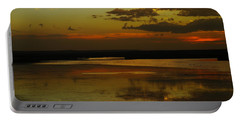 Sunset On Medicine Lake Portable Battery Charger