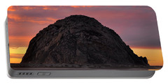 Sunset On Morro Rock Portable Battery Charger