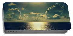 Sunset On The Atlantic Ocean Portable Battery Charger by Paulo Guimaraes