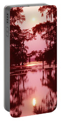 Portable Battery Charger featuring the photograph Sunset On The Bayou Atchafalaya Basin Louisiana by Dave Welling