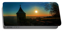 Sunset On The Fortress Koenigstein Portable Battery Charger
