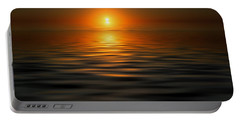 sunset on the Gulf Portable Battery Charger by Kevin Cable