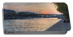 Sunset On The Seine Portable Battery Charger