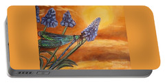 Summer Sunset Over A Dragonfly Portable Battery Charger by Kimberlee Baxter