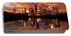 Sunset Over Austin Portable Battery Charger