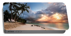 Sunset Over Bacardi Island Portable Battery Charger by Mihai Andritoiu