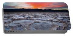 Sunset Over Badwater Portable Battery Charger