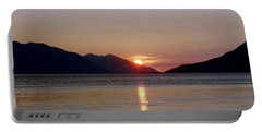 Sunset Over Cook Inlet Alaska Portable Battery Charger