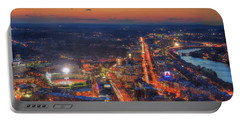 Sunset Over Fenway Park And The Citgo Sign Portable Battery Charger