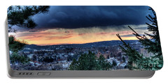 Sunset Over Hot Springs Portable Battery Charger