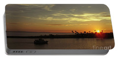 Sunset Over Jetty Point Portable Battery Charger