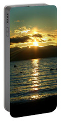 Sunset Over Lake Tahoe Portable Battery Charger
