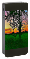Portable Battery Charger featuring the photograph Sunset Over M-33 by Daniel Thompson