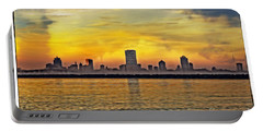 Sunset Over Milwaukee Portable Battery Charger