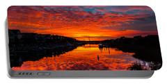 Sunset Over Morgan Creek - Wild Dunes Resort Portable Battery Charger