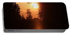 Sunset Over The Canals Portable Battery Charger