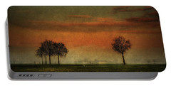 Sunset Over The Country Portable Battery Charger
