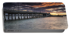 Sunset Over The Drawbridge Portable Battery Charger by Fran Gallogly