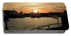 Portable Battery Charger featuring the photograph Sunset Over The Marina by Ron Davidson