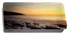 Sunset Over The Sea, Celtic Sea, Wales Portable Battery Charger