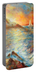 Sunset Over The Sea. Portable Battery Charger