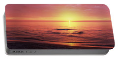 Sunset Over The Sea, Venice Beach Portable Battery Charger by Panoramic Images