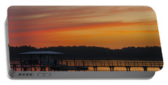 Portable Battery Charger featuring the photograph Sunset Over The Wando River by Dale Powell