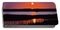 Sunset Over The Wetlands Portable Battery Charger