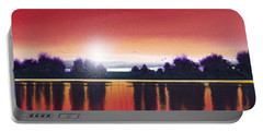 Sunset Over Two Lakes Portable Battery Charger