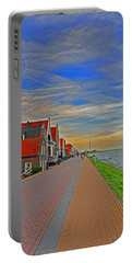 Sunset Over Volendam Portable Battery Charger