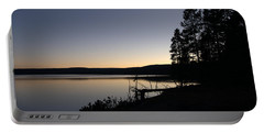 Sunset Over Yellowstone Lake Portable Battery Charger