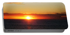 Sunset Painting - Orange Glow Portable Battery Charger