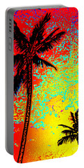 Portable Battery Charger featuring the photograph Sunset Palms by David Lawson