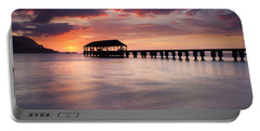 Sunset Pier Portable Battery Charger by Mike  Dawson