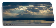 Sunset Rays Over Mount Susitna Portable Battery Charger by Andrew Matwijec