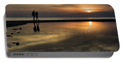 Sunset Reflection And Silhouettes Portable Battery Charger