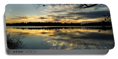 Sunset Reflection Portable Battery Charger by Yulia Kazansky