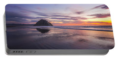 Sunset Reflections At Morro Bay Beach Rock Fine Art Photography Print Portable Battery Charger