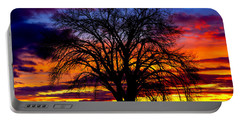 Portable Battery Charger featuring the photograph Sunset Silhouette by Greg Norrell