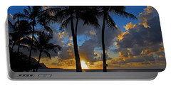 Portable Battery Charger featuring the photograph Sunset Silhouettes by Lynn Bauer